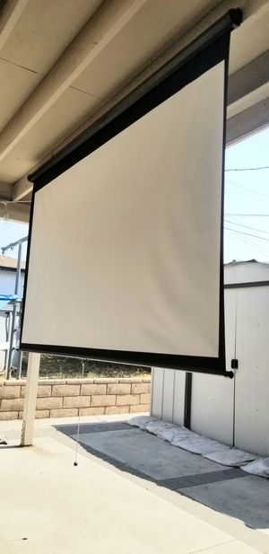 100 inches 16:9 ratio wide screen 86x50 inches projector projection screen for Sale in Covina, CA