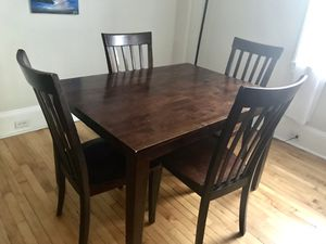 Solid Wood Dining Set (table + 4 chairs) for Sale in Philadelphia, PA