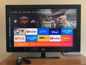 32 inch TV with Amazon Fire Stick and Universal Remote for Sale in Cypress, CA