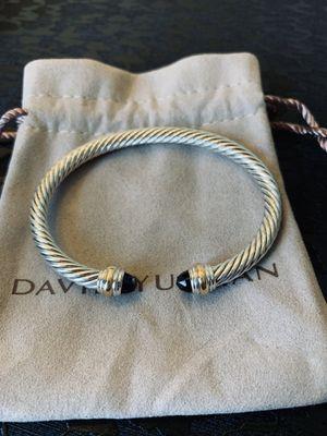 ✔️David Yurman 5m Two Tone 18k onyx bracelet for Sale in New York, NY