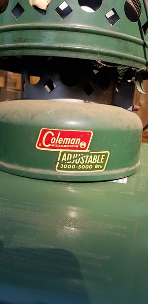 Coleman 3500-5000 BTU Tent Heater for Sale in Bedford, TX