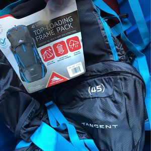 High Sierra 45 L top loading frame pack multi day backpacking for Sale in Cupertino, CA