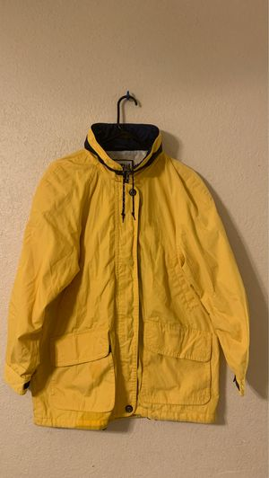 Pacific Trail Mens Yellow Parka with hidden hood, size Medium for Sale in Las Vegas, NV