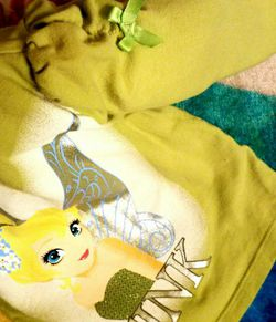 Disney Tinkerbell Green Sweater Size 12M / Pants/ Two Green Shorts. Sale!!! for Sale in Whittier,  CA