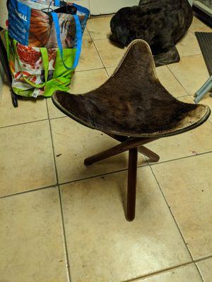 Cowhide Three Legged Stool for Sale in San Lorenzo, CA