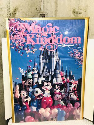 Vintage 1983 Walt Disney Magic Kingdom Promotional Poster for Sale in Central Falls, RI