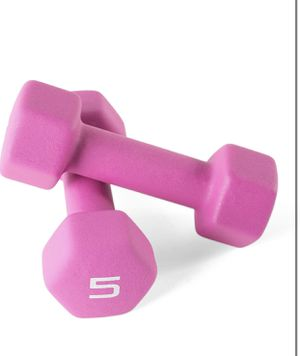 Brand new CAP Barbell Neoprene Coated Dumbbell Weights, 5 Pound, Single, Magenta CAP Barbell Neoprene Coated Dumbbell Weights, 5 Pound, Single, Mage for Sale in Austin, TX