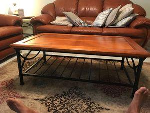 Coffee table 48x28x18 brown black legs for Sale in Delray Beach, FL