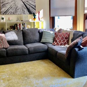 Large Charcoal Sectional Couch for Sale in Denver, CO
