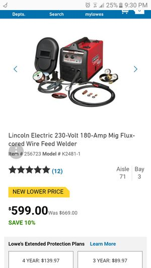 Lincoln electric welder 230 voltage 180 amp BRAND NEW NEVER OPENED for Sale in Portland, OR