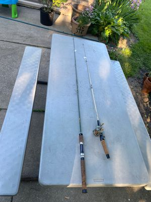 2 fishing rod one with reel for Sale in Lyons, IL