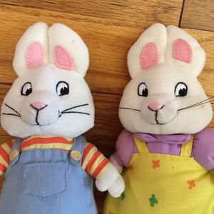 """Ty Beanie Babie 7"""" Max And Ruby Bunny Rabbits Nick Jr Plush Set for Sale in Bellerose, NY"""