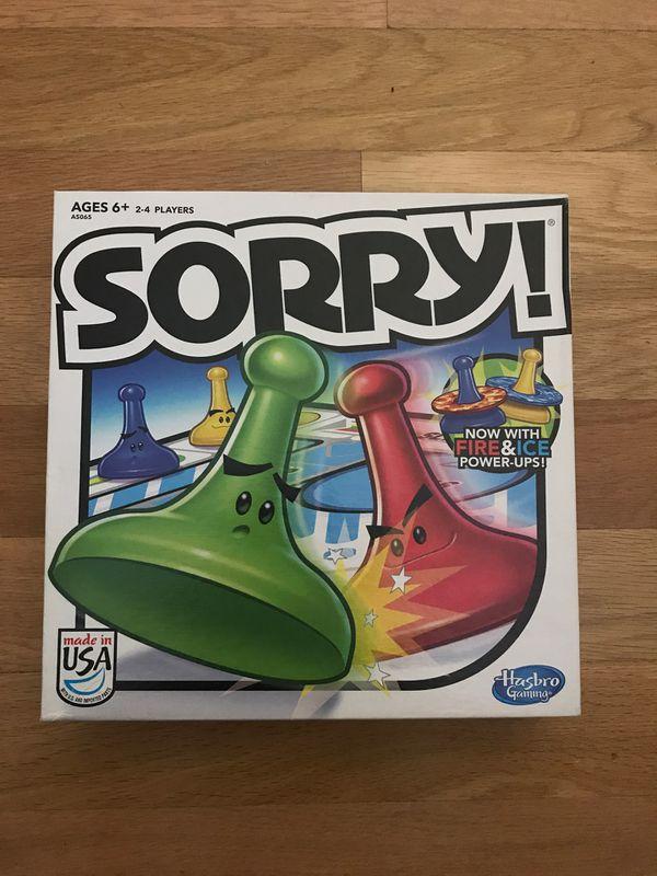 Hasbro board game Sorry board game for fun