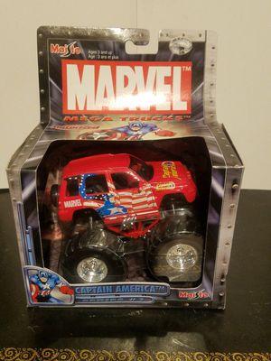 MAISTO MARVEL Motorized Pullback MONSTER TRUCK Captain America Misb NEW. for Sale in Leander, TX