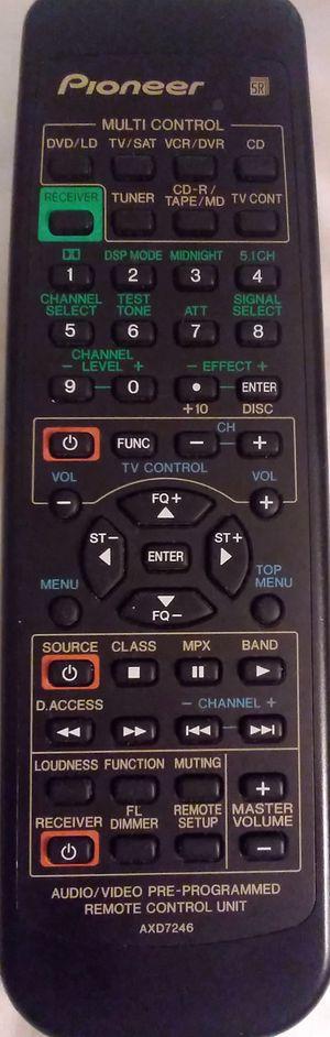 Pioneer AV Reciever Remote AXD7246! Works Great! for Sale in Colorado Springs, CO