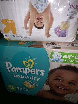 New diapers size 5 $20 for both for Sale in San Jose, CA
