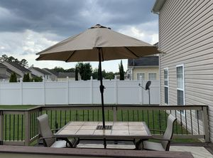 Patio Set (2 Chairs & 8ft Umbrella) for Sale in Raleigh, NC