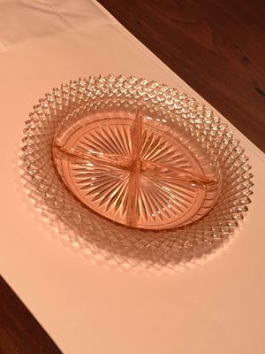 Pink Depression Glass Divided Dish for Sale in Herndon, VA