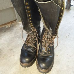 made in USA leather lineman boots for Sale in Lake Forest Park,  WA