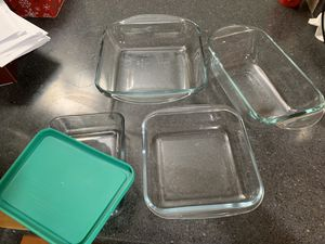 Glass blows baking trays and lunch boxes for Sale in Bellevue, WA