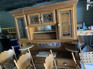 Gorgeous oak kitchen table set for Sale in Fredericktown, PA