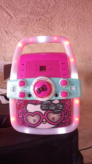 Hello kitty cd/karaoke/aux for Sale in Moreno Valley, CA