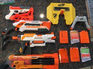 NERF Gun Collection - 4 Guns, 6 Clips, Shield, Sniper BiPod for Sale in Phoenix, AZ