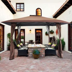 NEW Outdoor Brown Canopy Patio Gazebo Pop-up Tent for Sale in Beverly Hills, CA