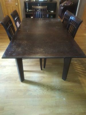 Dining table and five chairs, coffee table, recliner at times has mechanical issues. Best offer for Sale in Boston, MA