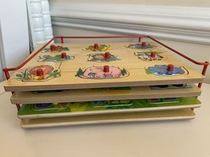 4 pieces wooden puzzle toys for Sale in Falls Church, VA