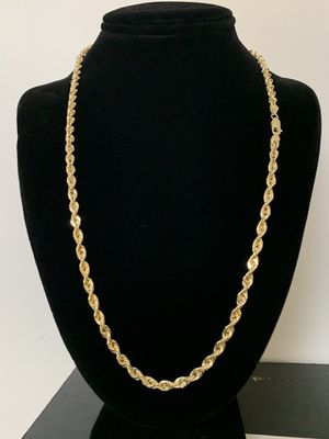 10k Gold Rope chain BRAND NEW for Sale in Houston, TX