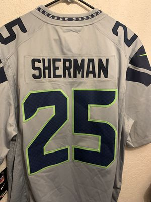 $150 NIKE SEATTLE SEAHAWKS RICHARD SHERMAN LIMITED ON FIELD JERSEY GREY MENS XL for Sale in Everett, WA