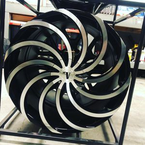BRAND new set (4) Black and Machined 22 inch Rims fit only $900!!! for Sale in Lakewood, WA