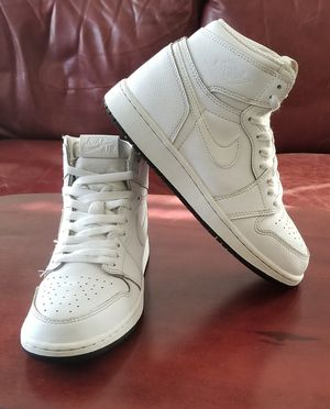 Jordan 1's All White Preforated leather Size 5.5y for Sale in San Leandro, CA