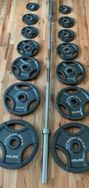 300lb Olympic weight set for Sale in Portland, OR