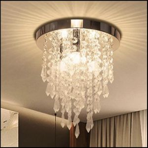 Crystal Chandelier, Kakanuo Modern Crystal Ceiling Light, 3 Lights Flush Mount Crystal Light Fixture for Sale in The Colony, TX