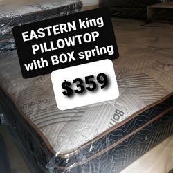 EASTERN KING PILLOW TOP MATTRESS AND BOX SPRING for Sale in Fresno,  CA
