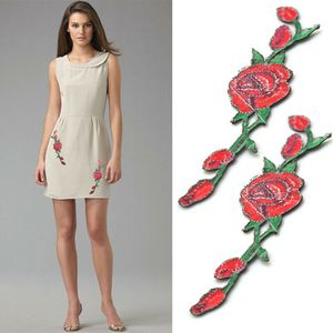 Lot 2 Pcs Red Rose red rose Flower Embroidery Applique Patch (2pcsredrose-USA) for Sale in Riverside, CA