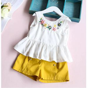 Baby Clothes Set Toddler Kids Girl Sleeveless Flower T-shirt Tops+Shorts Pants Clothes Outfit Set Kids Top Shirts for Sale in Orlando, FL