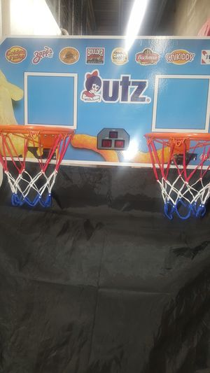 Brand new in the box utz basketball hoop comes with 4 basketballs infant. for Sale in Bowie, MD