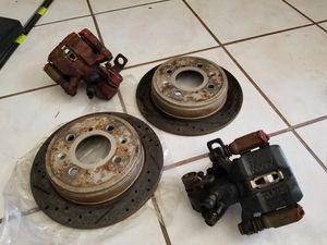 Honda Civic EK Si rear slotted drilled rotors, pads and calipers for Sale in Gambrills, MD