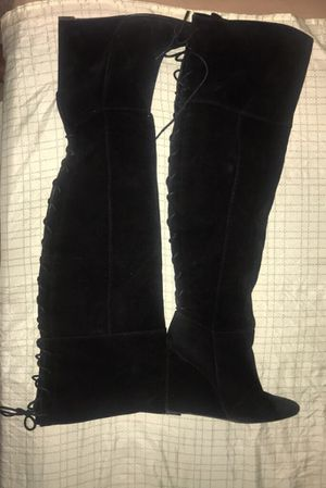 Thigh high wedge boots size 11 for Sale in Silver Spring, MD