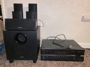 Onkyo HT-R380 Receiver and 5.1 channel surround system for Sale in Tacoma, WA