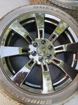 "22"" Gmc Yukon Denali black stock wheels tires LIKE NEW! for Sale in Bolingbrook, IL"