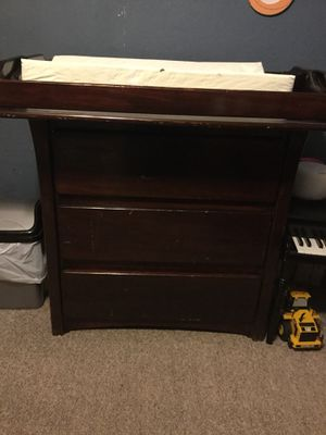 Solid wood changing table with drawers and changing pad for Sale in Pasadena, TX