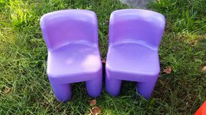 2 purple little tikes chairs for Sale in Washington, DC