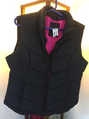 Black zip -up popper vest size XL. for Sale in Gaithersburg, MD