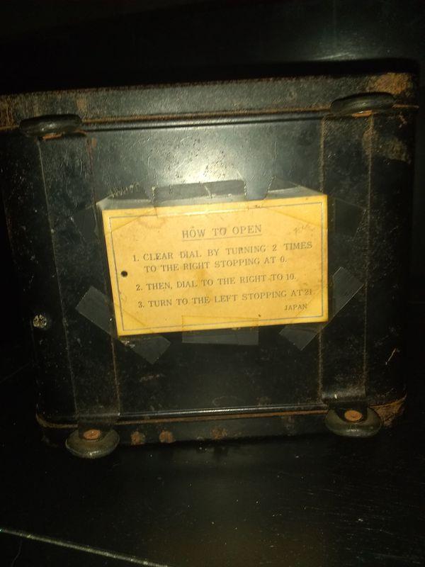 Antique frontier safe 1600s