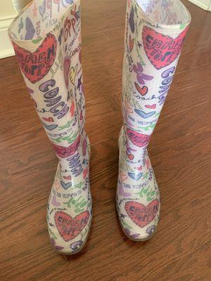 Coach rain boots for Sale in Apex, NC