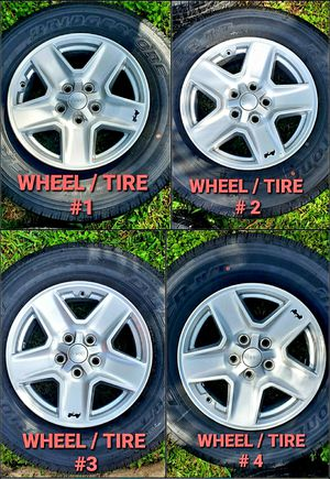 5 Brand New 2020 Jeep Gladiator Wheels / Rims and 275/75-17 Tires for Sale in Hollywood, FL